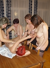 Its an all lesbian mature sexparty