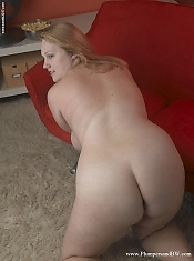 Ann North is a busty blonde chubby slut who really gets off on being a tease. Packing those sexy curves away behind bulky sweaters all day makes this blonde sweetie very horny. Her day job doesn't let her dress sexy so as soon as she is home, off come the